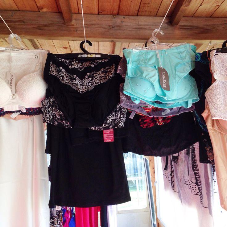 Modellernas underkläder färdig soterat