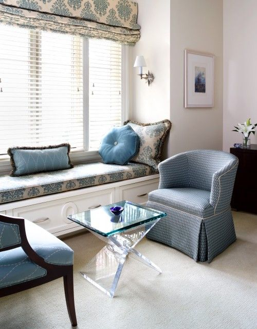 Best Window Seat Images On Pinterest Windows Cushions And - Beautiful windows and love the window seat with blue white cushions