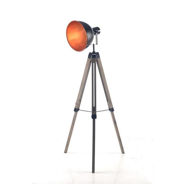 Tripod Floor Lamp With Black/Gold Bowl Shade – Click Online Sales
