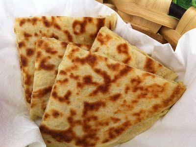 Pan naan de queso y cebolla [Thermomix]