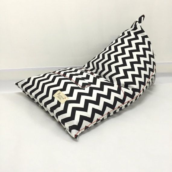 Bean Bag Kids S Beanbag Agers Bedroom Decor Black And White Zigzag Pattern Yellow Grey Blue Orange Living Room In