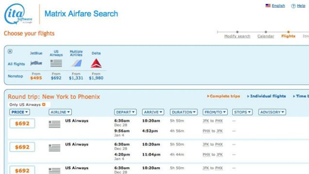 One secret that hardcore business travelers know is you can often fly first class or business class for almost the same as flying coach (and sometimes it's just as cheap). Certain seats are priced like coach but actually upgrade you automatically. You can find them on ITA Software's Matrix.