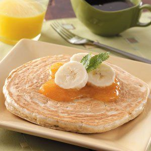 Banana Pancake for One Recipe -Get a delicious start to the day with tender and hearty pancakes from Carmen Bolar. The Bronx, New York cook experiments with different extracts-try coconut or almond in place of the vanilla.