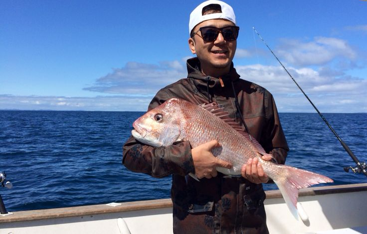 Name this Chinese film star....  His first ever snapper on board Diversity  Check us out at www.charterconnection.co.nz