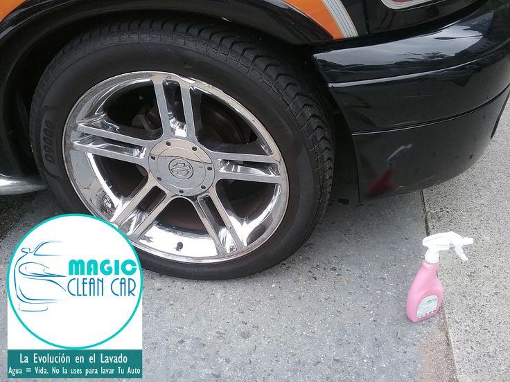 Cliente Magic Clean Car, Las llantas de La #Ford brillan espectacular #Lavarsinagua - Deja Tu Auto Limpio, brillante y protegido sin utilizar una Gota de Agua
