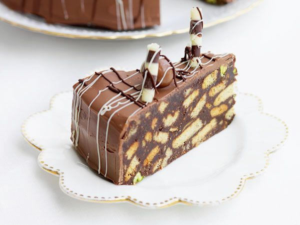 Chocolate biscuit cake http://www.eatout.co.za/recipe/chocolate-biscuit-cake/