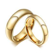 Meaeguet Węglik wolframu Obrączki Dla Pary Złoty Kolor Dla Kobiety Mężczyźni W Stylu Vintage Biżuteria zakochanej(China (Mainland))