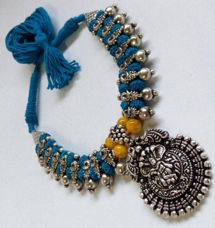 Thread necklaces