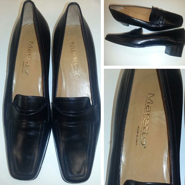 Black Maretto shoes. Size 39, €30 at Oxfam Rathfarnham. https://www.oxfamireland.org/shop/oxfam-rathfarnham