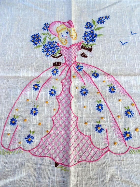 Antique Crinoline Lady Southern Belle by Holliezhobbiez