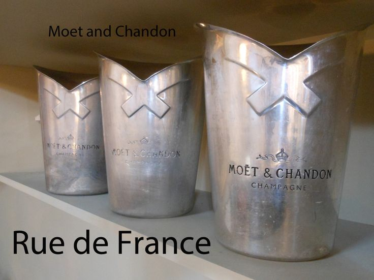 Moet and Chandon champagne buckets