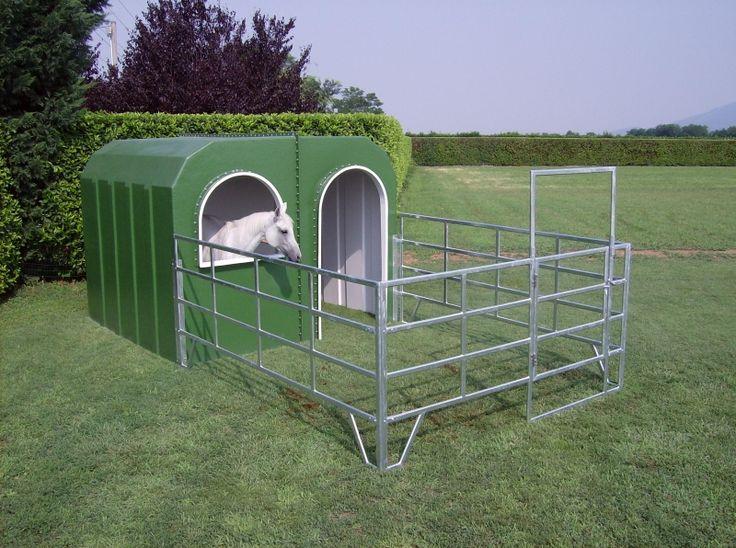 Pferdestall Pferdebox Iglu Offenstall Außenbox Unterstand | eBay