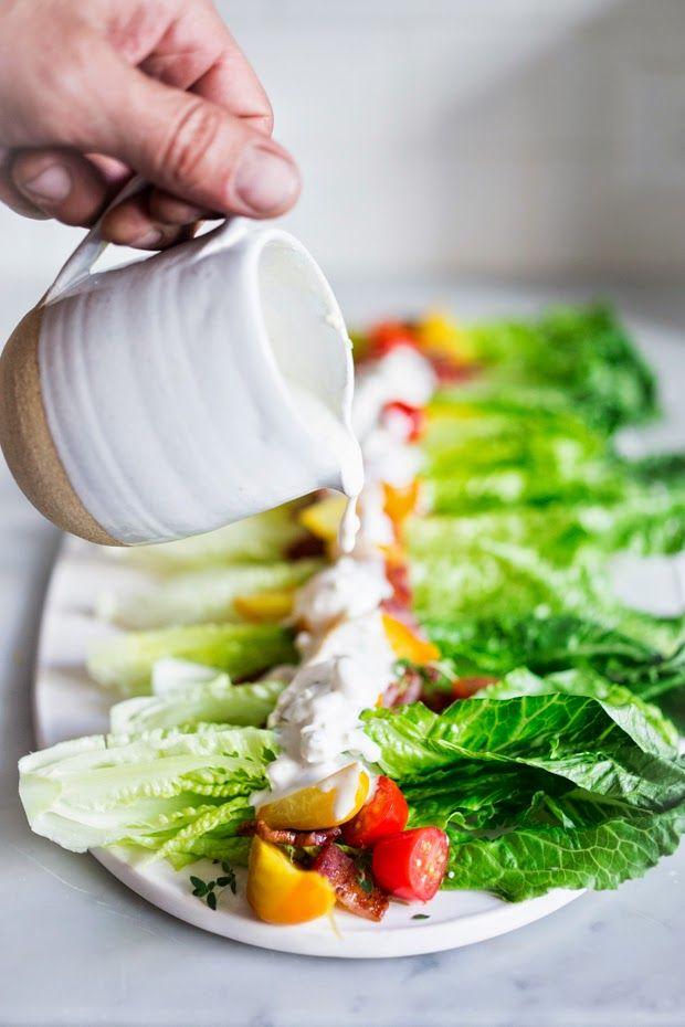 Wedge Salad with Creamy Gorgonzola Dressing - Feasting At Home