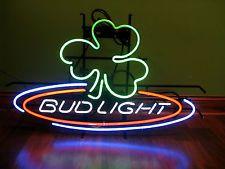 COOL!!! Bud Light Neon Sign  - Shamrock