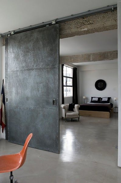 industrial barn door...i neeeed this, and the apartment it belongs to                                                                                                                                                                                 More