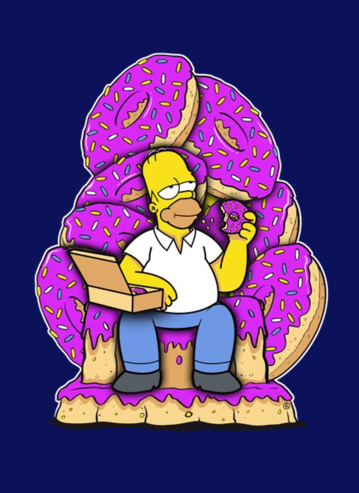 Картинка гомер ест пончики