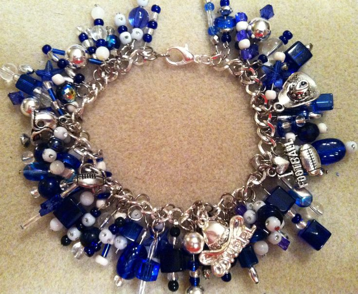 Dallas Cowboys inspired bracelet. Made by Passmore Knick-Knacks.  Follow me on FB as well.