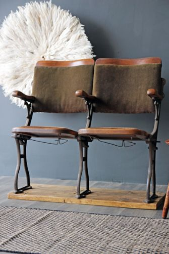 ohhhhhh IF ONLY! :(  Vintage 1890-1905 Two Seater Cinema Seats