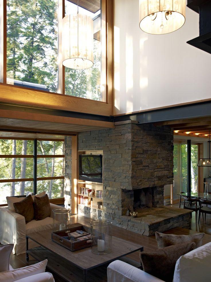 Altius Architecture Inc : Lake Joseph Cottage - living room. www.altius.net