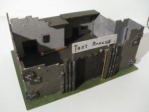 Vecchio FORT APACHE - Forte Far West in Legno per Soldatini, Cowboys e Indiani | eBay