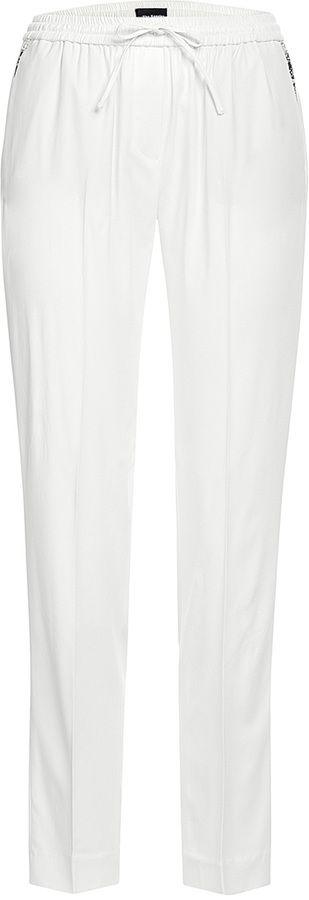 The Kooples Kate Crepe Track Pants with Leather