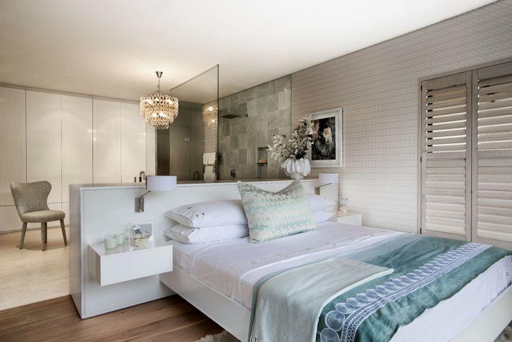 Michele Throssell Interiors > Bedroom > Bathroom > Open Plan > Custom HeadBoard > White Linen > Sanctuary