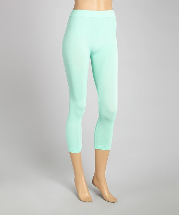 Look at this Mint Capri Leggings on #zulily today!