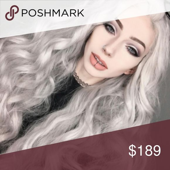 """Gray Wavy Beauty Waves Lace Front Wig 24-26 inches Natural Looking: Human Hair Blend handtied 2.5"""" lace Fashion Style:Long Straight Glueless Lace Front Wig(Kind Reminder: Slightly Color Difference between Different Monitors) 22-26 inches. Flexible Fit:Average Cap Size In Circumference 22.5 Inches,can be slightly adjusted with Adjustable Straps and 3 Combs to fit different size head Color: As pictured. Hair can be heated, curled, straightened, and flat iron, just spray with water first…"""