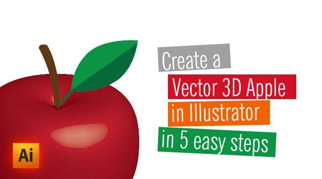 3d vector apple illustration