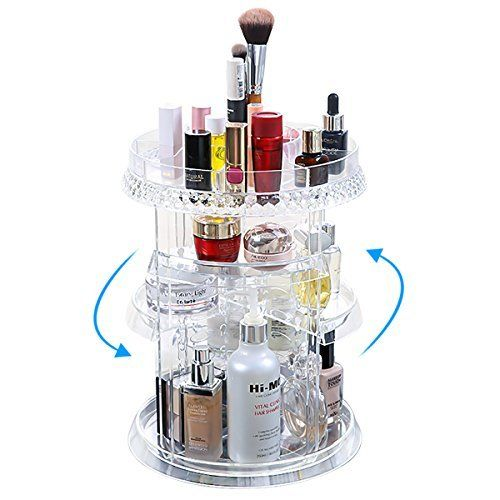138df54e4ac2 Miserwe Makeup Organizer 360 Degree Rotation 7 Layers Adjustable ...