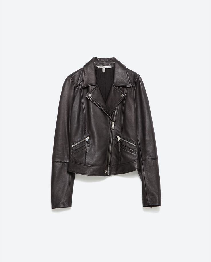 LEATHER BIKER JACKET-Jackets-TRF | ZARA United States