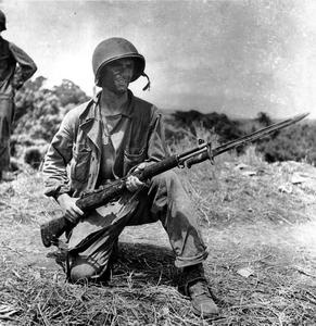 WWII US Marine Guadalcanal  packing a M1 Garand - http://www.rgrips.com/tanfoglio-limited-pro/505-tanfoglio-or-cz.html