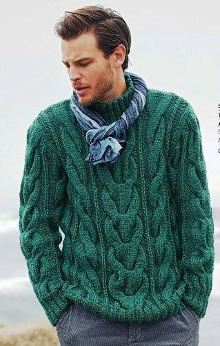 Tricot un pull homme