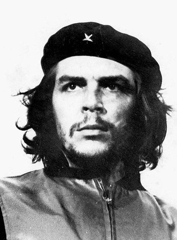"Ernesto ""Che"" Guevara Havannassa at the La Coubre Memorial Service in 1960. Che traveled around Latin America as a young medical student and came to the conclusion that the only solution for the poverty that he saw was world revolution. He was instrumental in Castro's takeover of Cuba and was later assassinated by Bolivian forces who were assisted by the CIA."