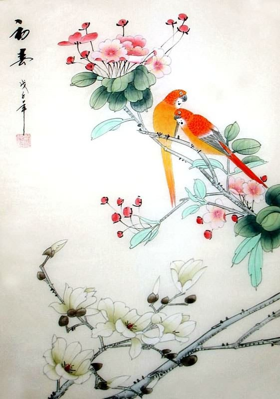 17 best images about chinese silk paintings on pinterest for Chinese mural painting