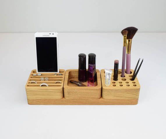 Wooden Makeup Organiser Jewellery Storage Beauty by BeamDesigns
