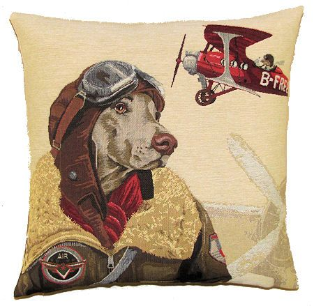 dog bomber pilot red