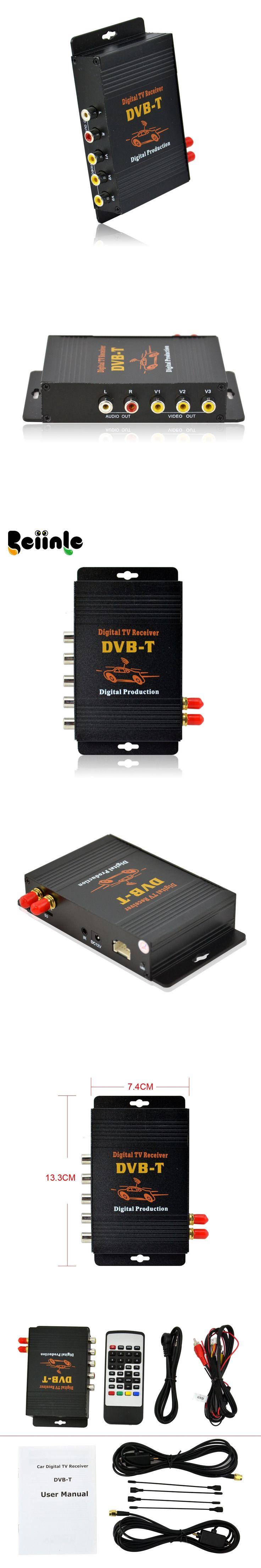 Car Four Tuner Way Dual Antenna DVB-T(MPEG-4)   Digital  TV receiver  for Thailand..etc