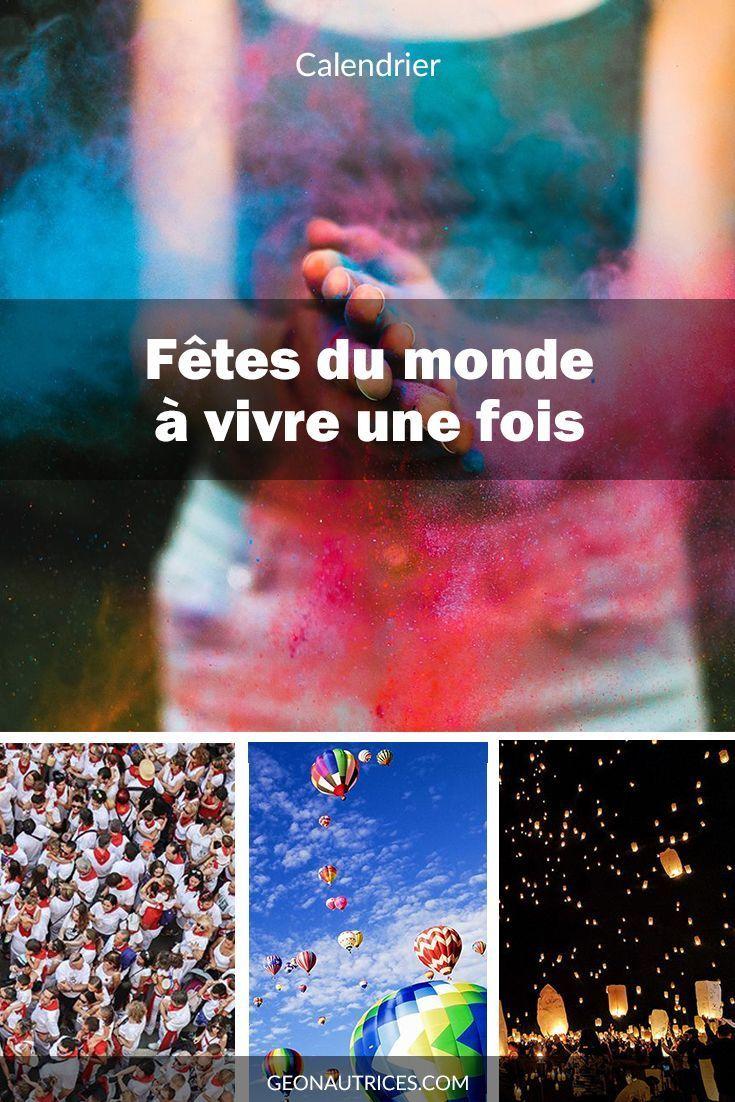 Wir haben in einem Kalender von vielen Festivals der Welt gruppiert, um u zu leben …