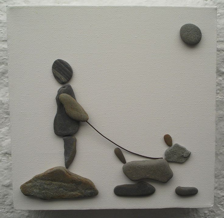 Pebbles on canvas