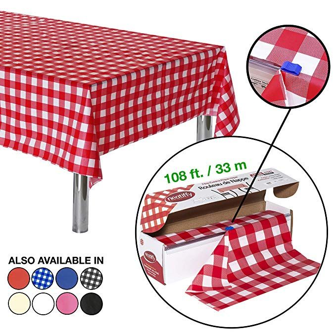 Neatiffy 54 Inch X 108 Feet Thick Plastic Table Cloth Roll Party