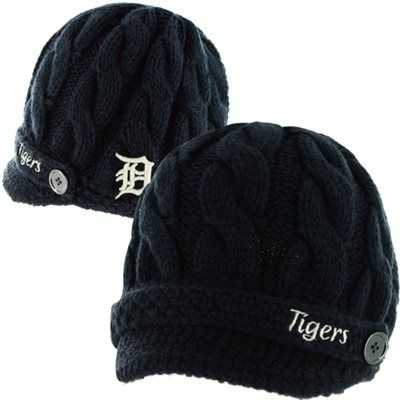 '47 Brand Detroit Tigers Ladies Sky Box Knit Beanie - Navy Blue