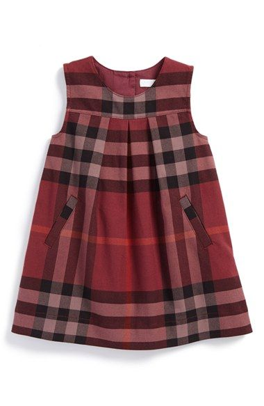 Burberry+Check+Print+Sleeveless+Dress+(Baby+Girls)+available+at+#Nordstrom