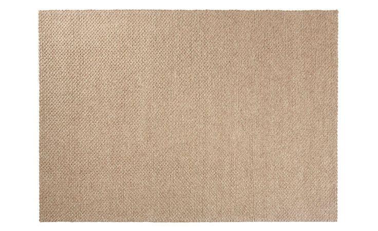 Tapis SCOOBY, effet tressé uni beige - Collection Tapis - Saint Maclou