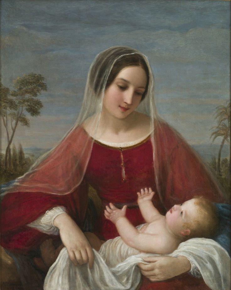 Natale Schiavoni, Madonna con bambino, 1842, olio su tela