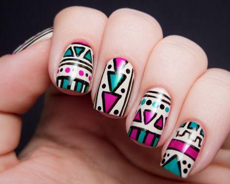 Resultado de imagen para diseños de uñas tribales paso por paso rosas