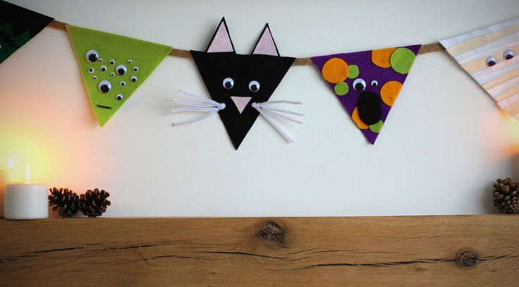 How to Make Felt Halloween Bunting