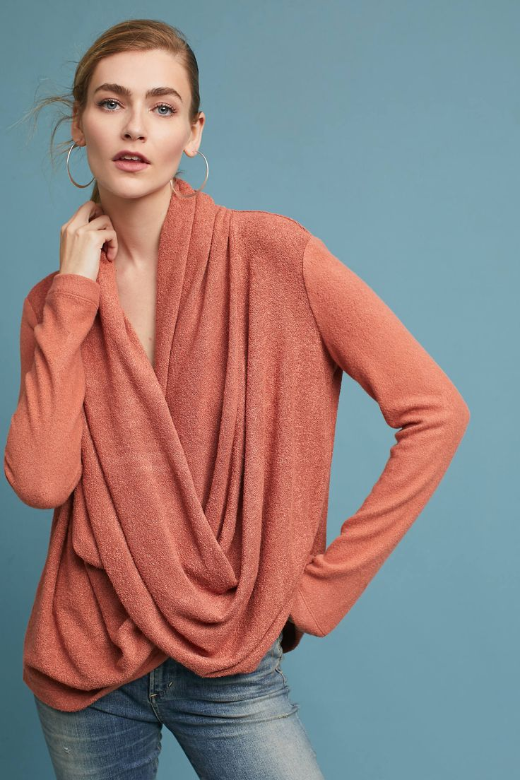 Draped Criss-Cross Top Sweater from Anthropologie {this is an affiliate link}