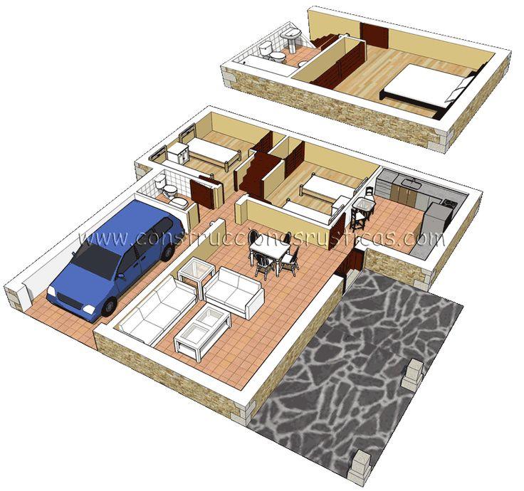 M s de 25 ideas incre bles sobre planos de casas peque as for Ideas distribucion casa