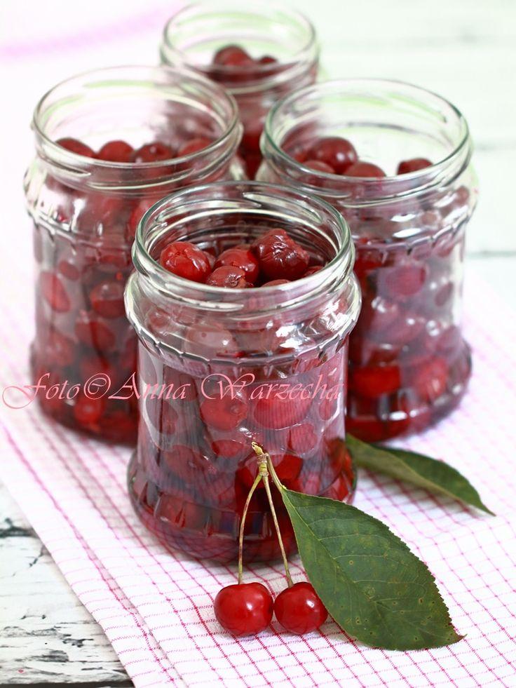 Wiśnie w słoikach bez cukru i soku